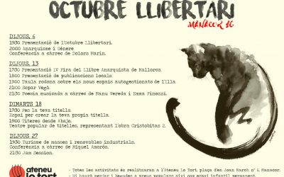 El col·lectiu Arrels organitza un octubre llibertari