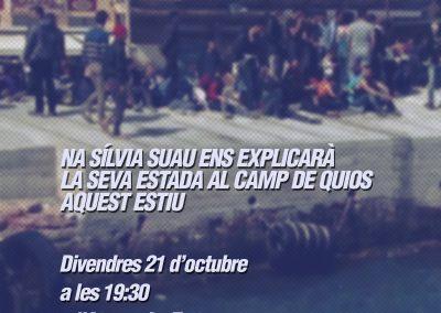 21 d'octubre   Experiències als camps de refugiades
