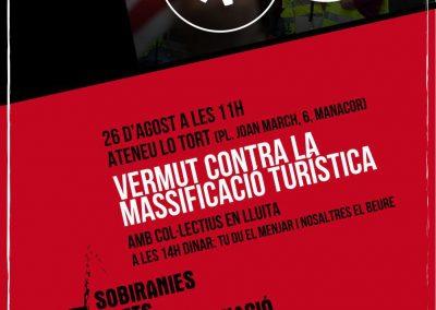 26 d'agost   Vermut contra la massificació turística
