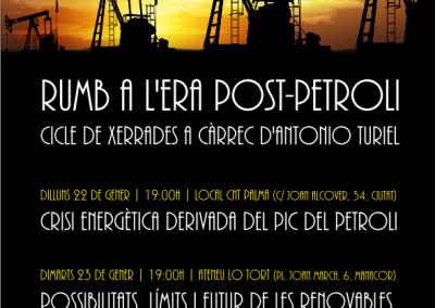 23 de gener | Cicle de xerrades: Rumb a l'era post-petroli