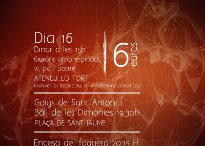 16 de gener | Dinar de Sant Antoni