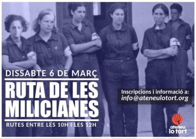 6 de març | Ruta de les milicianes